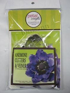Petal Crafts Anemone Cutters & Veiner Set gum paste cake decorating supplies #PetalCrafts