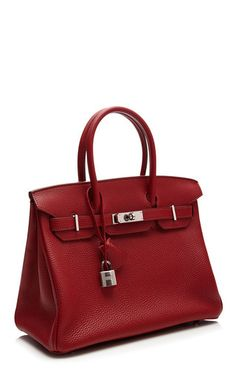 30 Cm Hermes Rouge Garance Togo Leather Birkin by HERITAGE AUCTIONS SPECIAL COLLECTION for Preorder on Moda Operandi