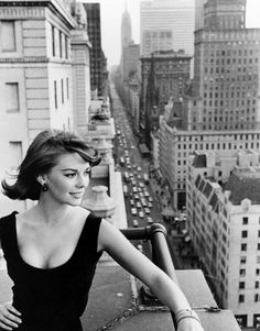 "Natalie overlooks Manhattan.. Promotional for her role in ""Love With the Proper Stranger"" in 1963."
