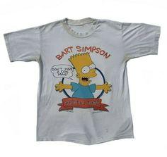 4d40d662d8e4 Bart Simpson Shirt 1989 Vintage Radical Dude Tee VTG Don't Have A Cow Man