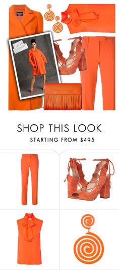 """Monochrome: Pumpkin Spice"" by jan31 ❤ liked on Polyvore featuring Boutique Moschino, Moschino and pumpkinspice"