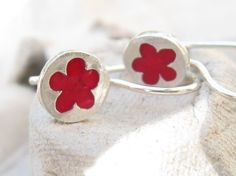 Hey, I found this really awesome Etsy listing at https://www.etsy.com/il-en/listing/186499342/tiny-red-flower-girl-earrings