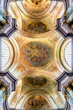 clara–lux:  ALTOMONTE, Bartolomeo (1694-1783)GRAN, Daniel (1694-1757) Ceiling frescoes in Herzogenburg Abbey Church18th centuryHerzogenburg Abbey Church, Lower AustriaEd. (Orig. by Uoaei1) Lic. Orig. Lic. Ed.