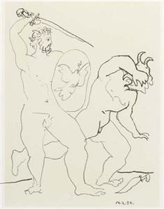 War and Peace (M. 245; B. 748; see C. books 67) By Pablo Picasso