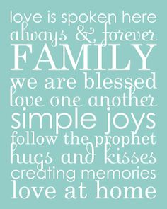 all things simple: family word art collage & phrases download