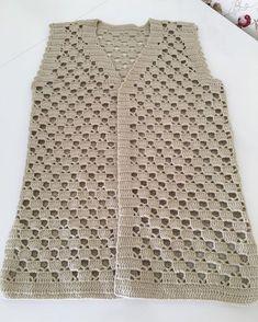 Hand Knitting Women's Sweaters Débardeurs Au Crochet, Gilet Crochet, Crochet Vest Pattern, Crochet Jacket, Crochet Woman, Crochet Cardigan, Crochet Shawl, Crochet Stitches, Crochet Dress Outfits