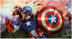 Captain America - Ballpoint Pen by VianaArts.deviantart.com
