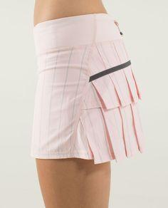 9424bea394 Lululemon Run: Pace Setter Skirt (Regular) - Slalom Stripe Pretty Pink /  Pretty Pink