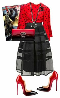 A fashion look from December 2015 by cogic-fashion featuring Temperley London, Christian Louboutin and Dolce&Gabbana Black Women Fashion, Look Fashion, Autumn Fashion, Fashion Outfits, Womens Fashion, Fashion Trends, Woman Outfits, Jeans Fashion, Classy Fashion