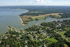 Aerial view of Urbanna and the Rappahannock River - I can see my house