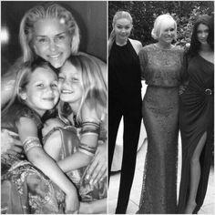 Yolanda Foster with her beautiful children, Gigi and Bella Hadid.