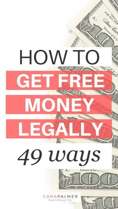 I'm going to show you how to get free money. In fact, I use several of the methods listed below to make hundreds of dollars every year. Make Money Today, Ways To Earn Money, Earn Money From Home, Earn Money Online, Money Tips, Money Saving Tips, Way To Make Money, Money Hacks, Finanz App