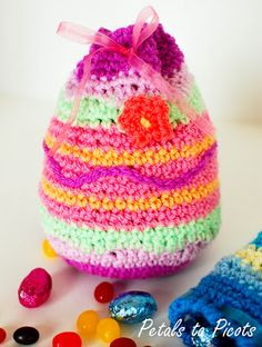 free #crochet pattern - easter crochet bag
