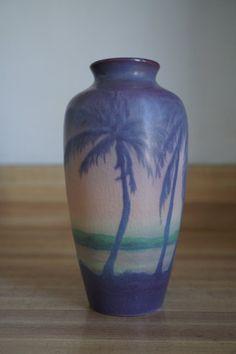 Rookwood Pottery Vellum Scenic Vase, 1917, Alice E. Caven