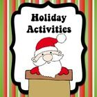 This 24 page activity pack is sure to keep your students engaged and motivated this holiday season!Included in this pack:-The Origin of the Chri...