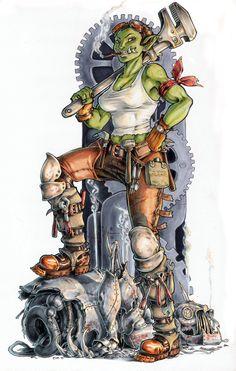 Ork Worker by megamoth.deviantart.com on @deviantART
