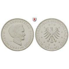 Bundesrepublik Deutschland, 10 Euro 2009, Marion Gräfin Dönhoff, J, bfr., J. 548: 10 Euro 2009 J. Marion Gräfin Dönhoff. J. 548;… #coins