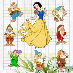 Disney Cartoons, Funny Cartoons, Cartoon Pics, Cartoon Art, Disney Princess Set, Preschool Classroom Decor, Snow White Seven Dwarfs, Disney Clipart, Snow White Birthday