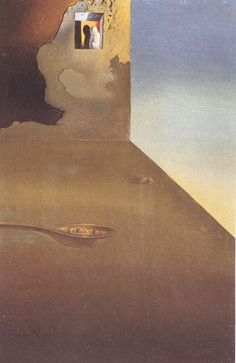 The Meeting of the Illusion and the Arrested Moment - Fried Eggs Presented in a Spoon - Dali Salvador