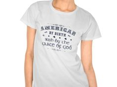 American by Birth, Style is Women's Hanes ComfortSoft T-Shirt, color is white Nautical Pillows, Irish Design, Italian Quotes, Lucky In Love, Friends Laughing, Cool Things To Buy, Stuff To Buy, Mens Tops, T Shirt