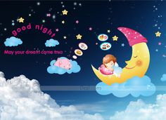 Good Night May Your Dream Come True Wall Sticker