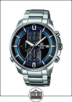 Casio Edifice EFR-533D-1AVUEF - Reloj analógico de cuarzo para hombre, correa de acero inoxidable color plateado (agujas luminiscentes, luz) de  ✿ Relojes para hombre - (Gama media/alta) ✿