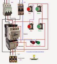 Esquemas eléctricos: Arranque de un motor trifasico desde dos puntos di...