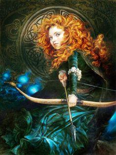 Merida [feat. Will O' The Wisps (x4)] (Edits by HeatherTheurerArtist @Facebook) #Brave