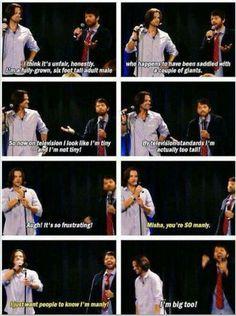 Poor Misha.