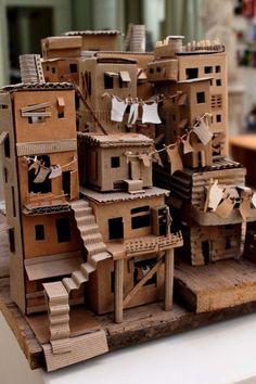 Cardboard favela.                                    Gloucestershire Resource Centre http://www.grcltd.org/scrapstore/