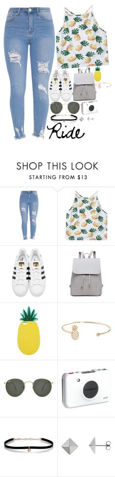 """""""Helicopter Ride//Contest Day 4"""" by smokeylovebae ❤ liked on Polyvore featuring adidas Originals, Miss Selfridge, Humble Chic, Ray-Ban, Polaroid, Carbon & Hyde and kkssummersetcontest"""