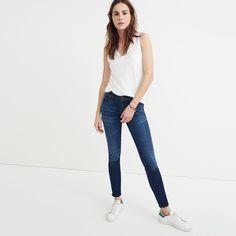 """8"""" Skinny Jeans in Riverdale Wash"""