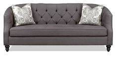 Daisy - Canadian-made sofa featuring a barrel back, bench seating, slim curves and diamond tufting which brings a true elegance to any home.