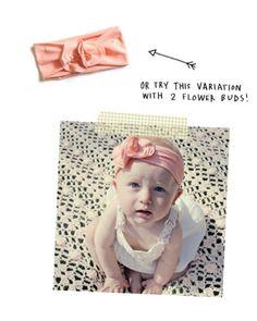 DIY Jersey Headband For Your Baby Girl | Kidsomania