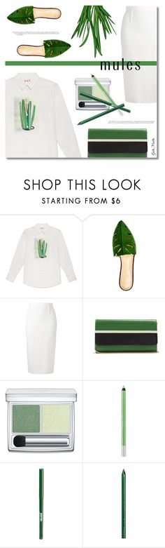 """""""Slip 'Em On: Mules ... 2017"""" by greta-martin ❤ liked on Polyvore featuring Roland Mouret, Lanvin, RMK, Urban Decay, jane, NYX, mules and contestentry"""