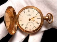 THE pocket watch of a Titanic victim — stopped at the moment he died — has emerged among his daughter's secret treasures from the tragedy. The timepiece, stuck at 2.19am, was kept by survivor Lillian Asplund.   Her collection includes a ticket — one of only four left in the world — for the doomed voyage, poignant family photos and wedding rings.