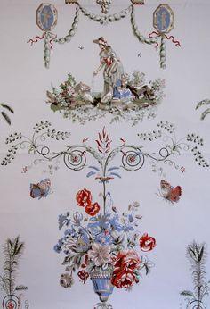 "Vintage Wallpaper - ""Reveillon"" by Waterhouse Wallhangings"