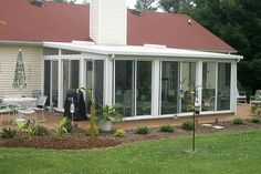 Screened Porch Designs, Screened In Patio, Backyard Pergola, Front Porch, Sunroom Cost, Sunroom Ideas, Round Fire Pit Table, Porch Enclosures, Porch Kits