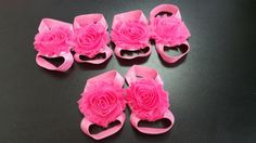 Infant Flower Shoes  Baby Girl Flower Shoes  New Born by linydress
