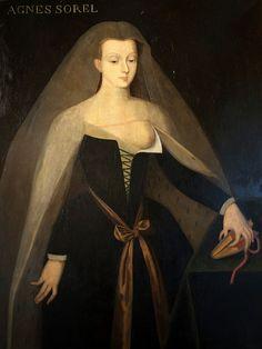 Agnès Sorel au château de Loches. Tableau de Jean Fouquet.