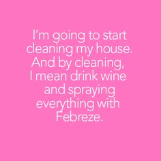 Febreze makes everything better. Cleaning Humor, Cleaning Quotes, Cleaning Hacks, Maid Cleaning Service, Clean My House, Karma Quotes, Wine Drinks, Everything, Concept