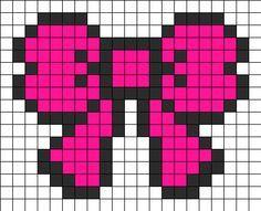 Bow Perler Bead Pattern | Bead Sprites | Misc Fuse Bead Patterns