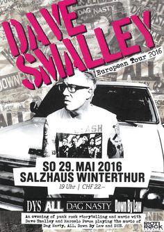 DAVE SMALLEY - PUNK ROCK - FLYER - SALZHAUS WINTERTHUR 2016