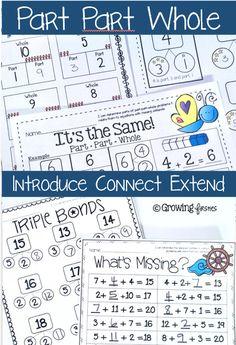 Part Part Whole - First Grade Math - Number Sense