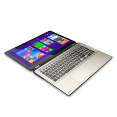 "TOSHIBA Satellite Radius P55W-B5224 Silver New Arrival Hybrid 4 in 1. PROMO Intel Core i7 4510U-1.9GHz Turbo 3.1Ghz, RAM 8GB, HDD 1TB, VGA Intel HD 4400, Screen 15.6"" Touch, Windows 8.1 FREE : DVD/RW Ext. BUFALLO"