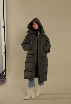 Hooded Cord Lock Collar Coat | STYLENANDA