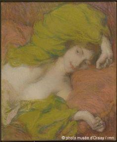 Edmond Aman-Jean, Farniente (ca. 1895, Musée d'Orsay, Paris)