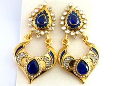 Nice blues earrings at our Wholesale Gallery of Fashion Accessories. All kinds of Costume Jewellery from India.