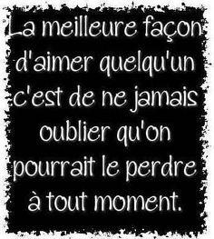 Citation & Proverbe Image Description ...Pour ma Nana....qui ne cesse de mesurer la chance que l'on a toutes les deux ~ citation français ~