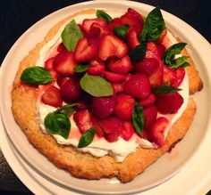C H E W I N G T H E F A T: Martha Stewart's Strawberry Shortcake with Basil. The Perfect Cake to celebrate Uncle Andrew's Day!